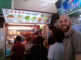 Queuing for chicken rice