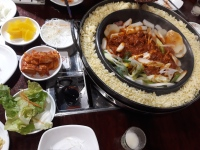 korean dinner with lab