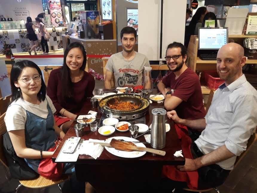 Farewell for Jiayi with Korean food and Soju