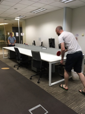 table tennis in the lab